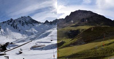 Avant/après : changement de saison sous la neige