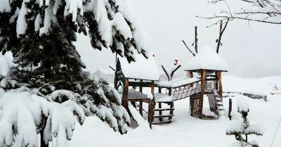 Chutes de neige en cours