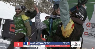 Marion Haerty championne du monde de freeride
