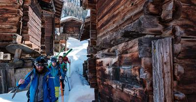 Skipass (en peaux de phoque) dans le Lötschental (1/2)