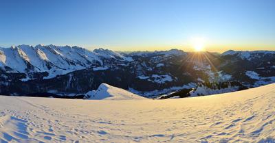 Parmi les plus beaux panoramas des alpes
