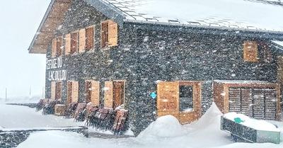 Livraison de neige fraîche en cours