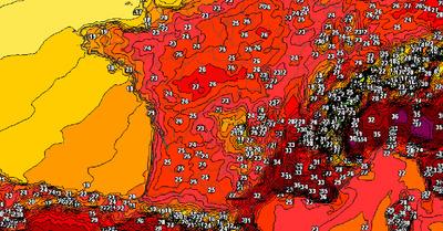 La météo montagne du jeudi :   Chaleur oui, canicule non
