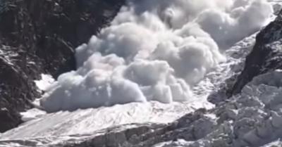 [vidéo] Avalanche estivale dans le massif du Mont-Blanc