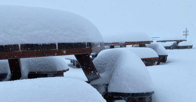 les chutes de neige du Week End en photos