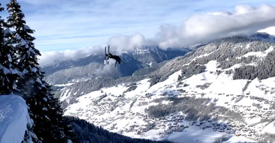 Video ski :  Mise en orbite à la Clusaz