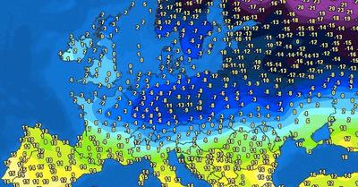 La météo du jeudi 11 février :   Neige en plaine et froid ... avant le calme?