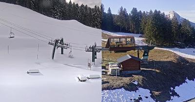 Plus d'un mètre de neige fraîche sur les Alpes du Nord