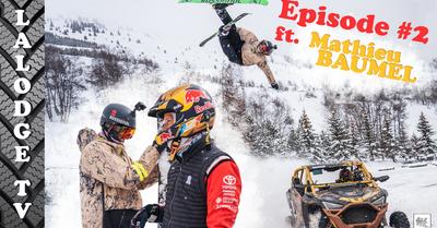 LALODGE TV ÉPISODE #2 Hugo Laugier partage sa vision du ski avec le copilote automobile Mathieu Baumel !
