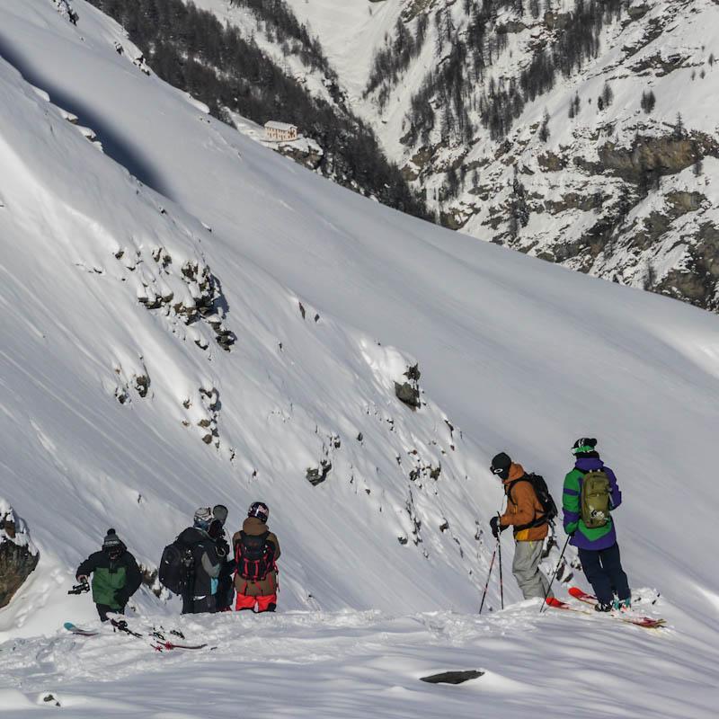 Swatch skiers cup : repérage de la face freestyle bc