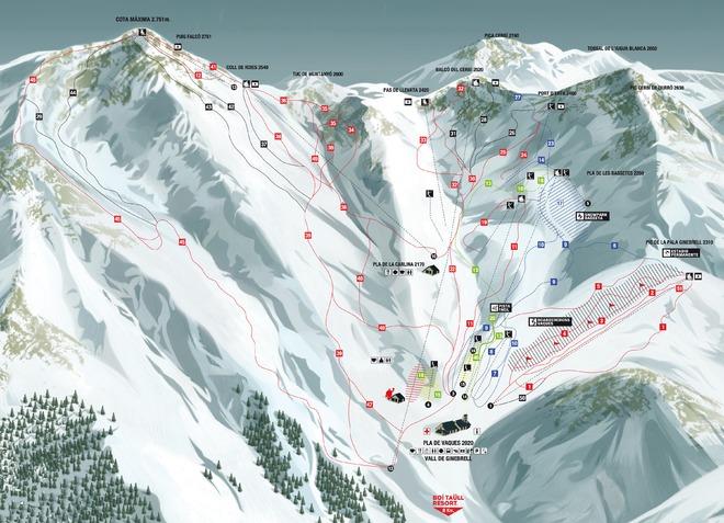 plan des pistes Boi Taull