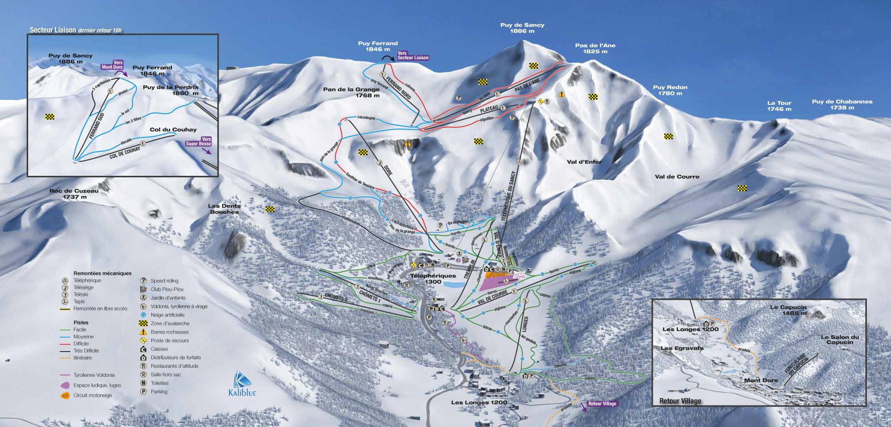 plan des pistes Le Mont Dore
