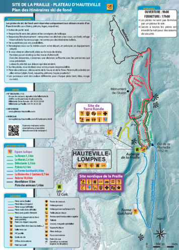 plan des pistes Hauteville-Lompnes
