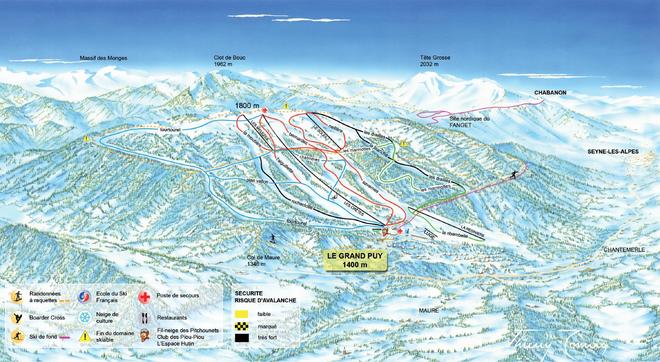 plan des pistes Grand-Puy