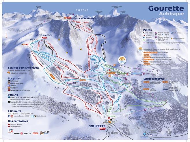 plan des pistes Gourette