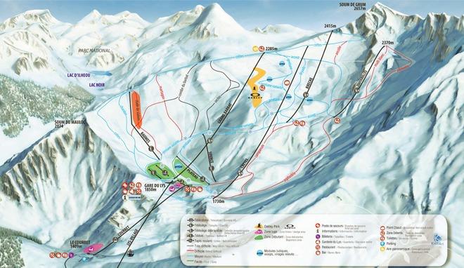 plan des pistes Cauterets