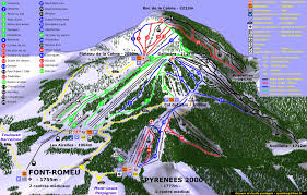 plan des pistes Font-Romeu - Pyrénées2000