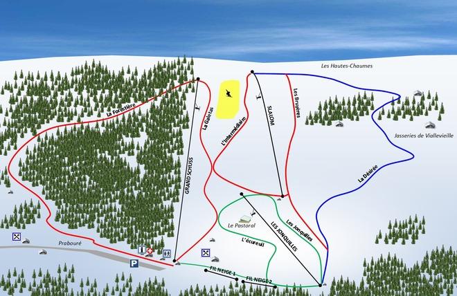 plan des pistes Prabouré