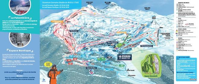 plan des pistes La Pierre Saint Martin