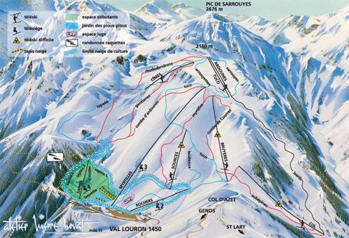plan des pistes Val Louron