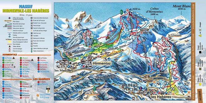 plan des pistes Bellevaux-Hirmentaz
