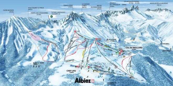 plan des pistes Albiez