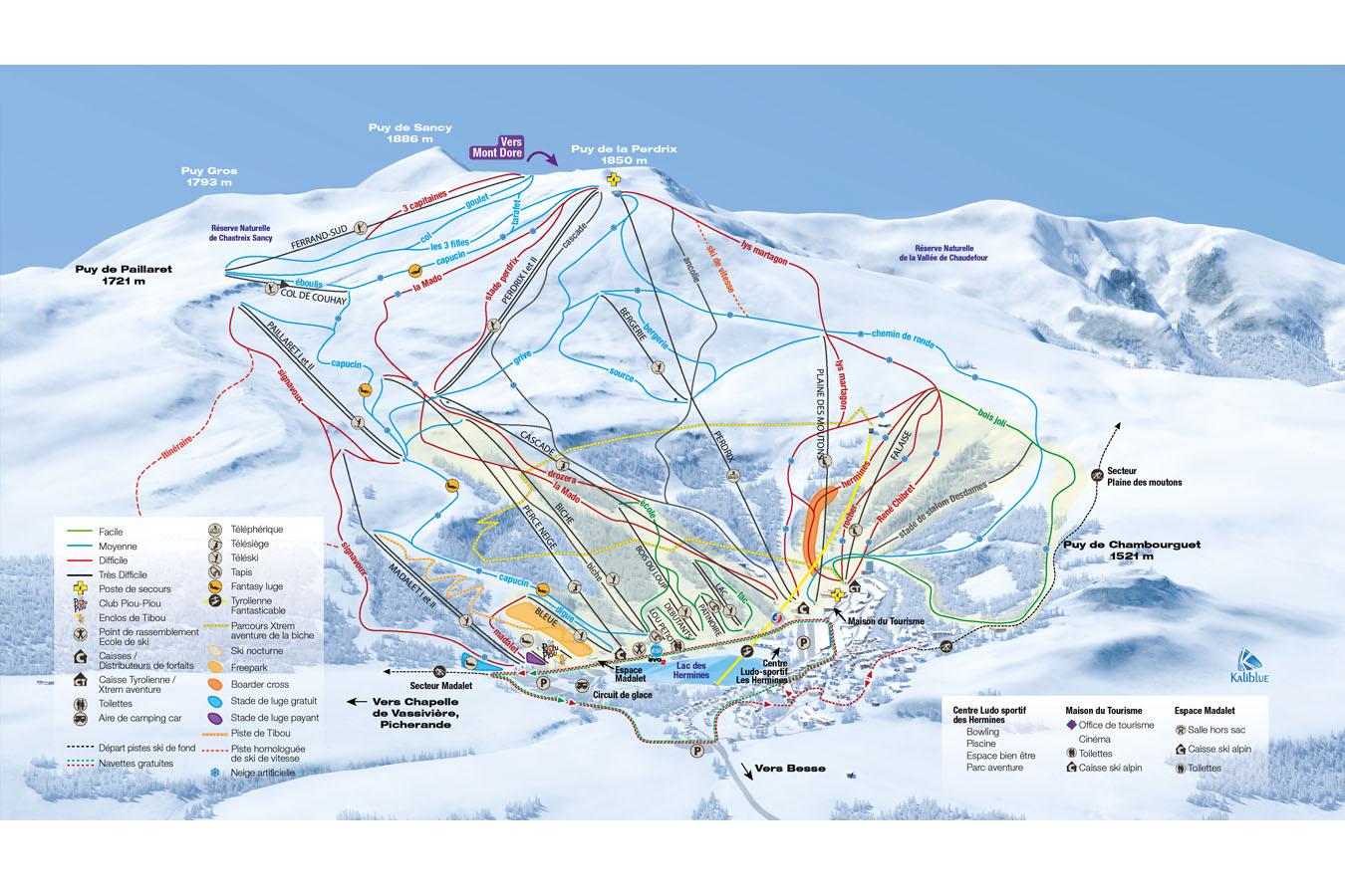plan des pistes Besse - Super Besse