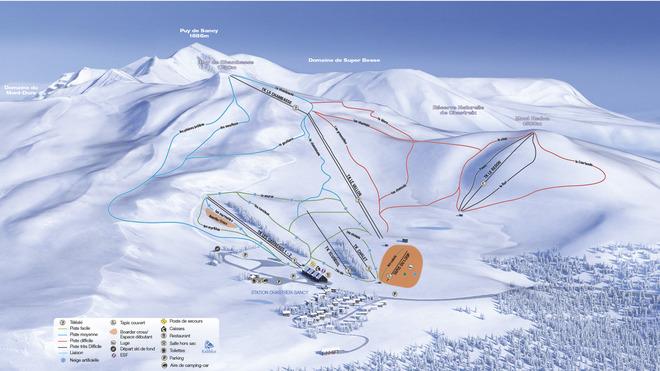 plan des pistes Chastreix-Sancy