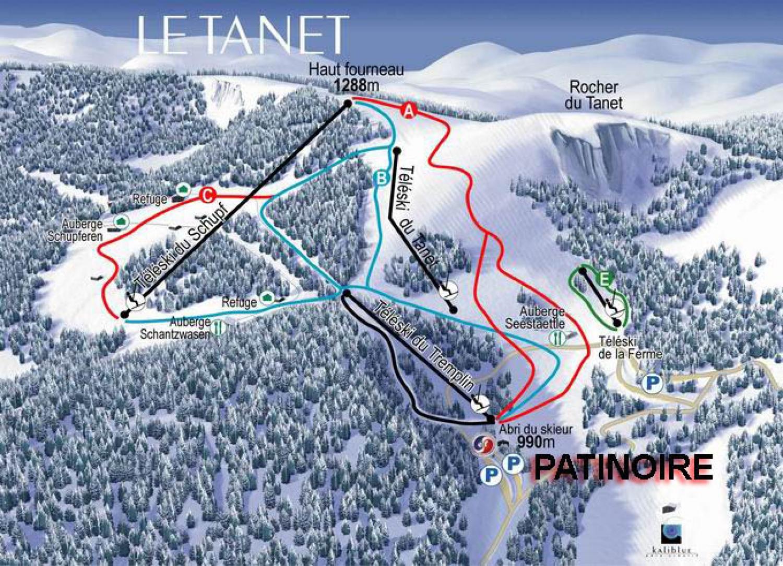 plan des pistes Le Tanet