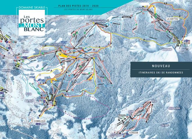 plan des pistes La Giettaz en Aravis