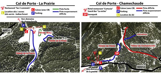 plan des pistes Col de Porte