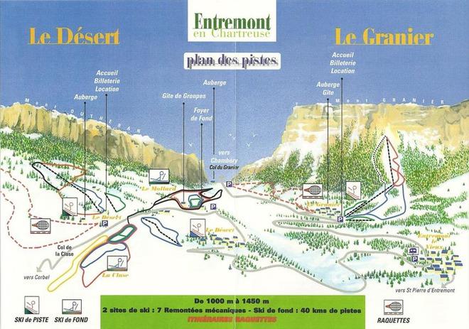 plan des pistes Le granier