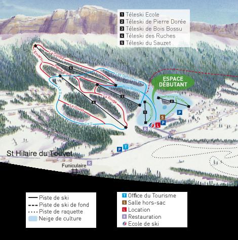 plan des pistes Saint Hilaire du Touvet
