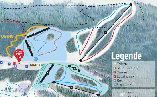 plan des pistes Saint Bernard-Col de Marcieu