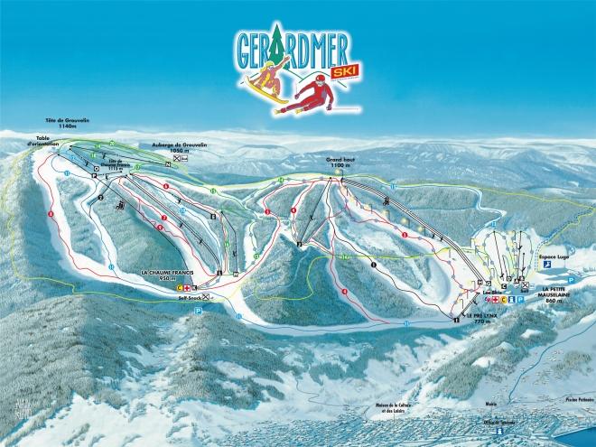 plan des pistes Gerardmer