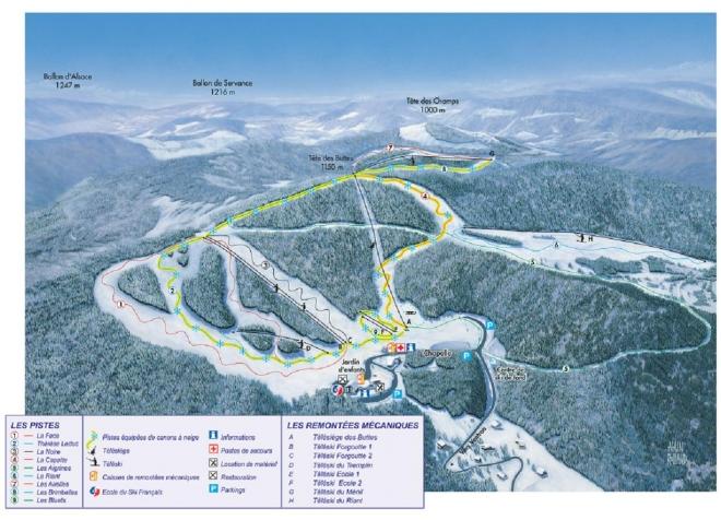 plan des pistes Ventron