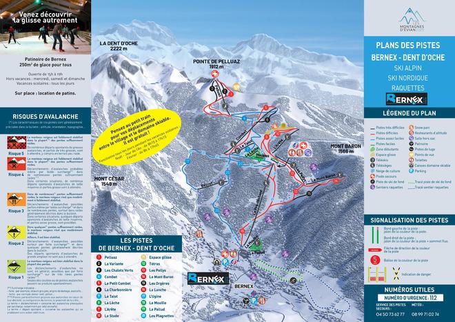 plan des pistes Bernex