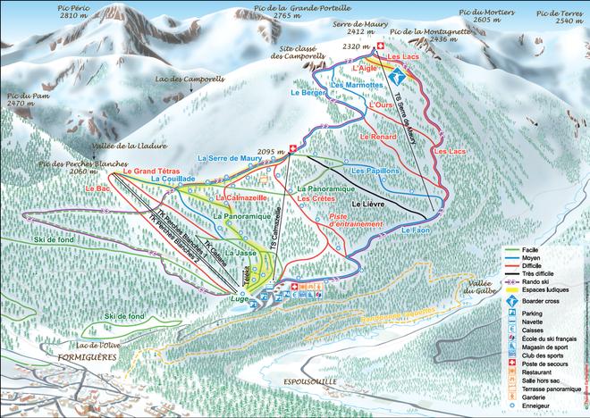 plan des pistes Formiguères