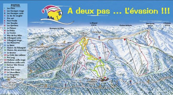 plan des pistes Chabanon