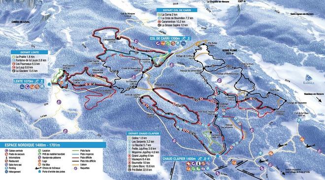 plan des pistes Font d'Urle