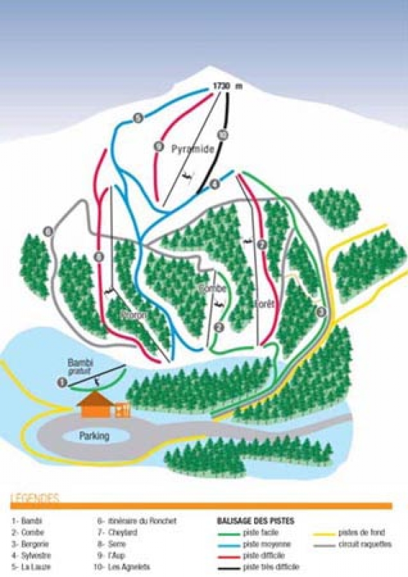 plan des pistes Valdrôme