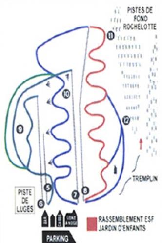plan des pistes Larcenaire