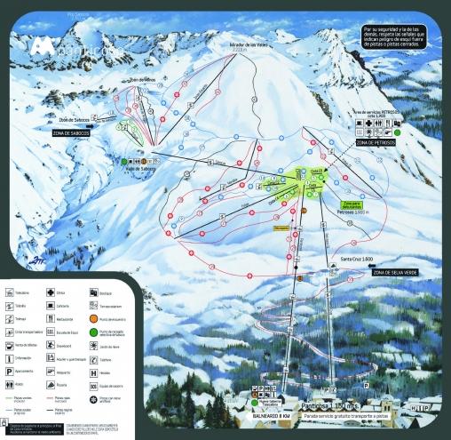 plan des pistes Panticosa