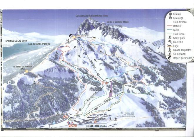 plan des pistes Réallon