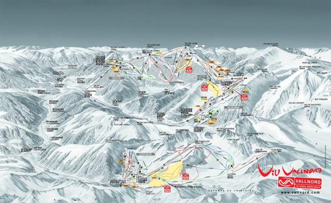 plan des pistes Pal - Arinsal
