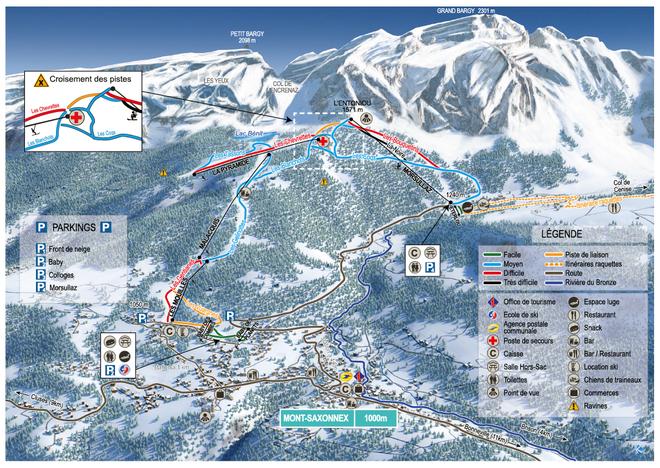 plan des pistes Mont-Saxonnex