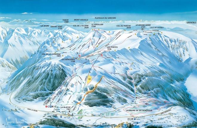 plan des pistes Alpe du Grand Serre