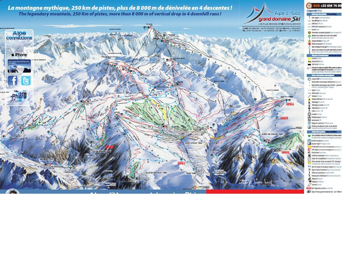 plan des pistes Auris-en-Oisans