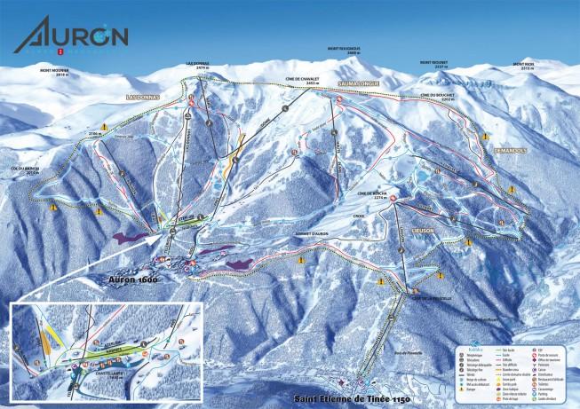 plan des pistes Auron