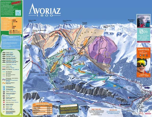 plan des pistes Avoriaz